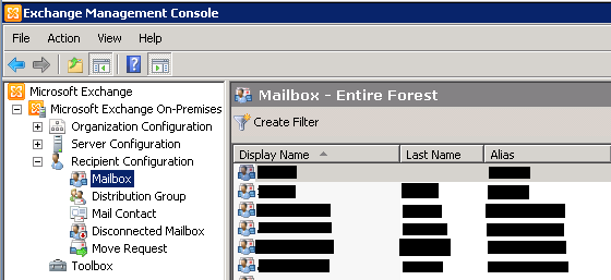 How to convert mail enabled public folder and user mailbox to additional e mail addresses of - Exchange management console ...